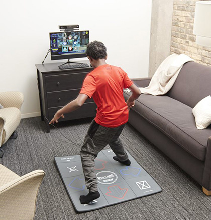 Kinuu equipment being played by a boy